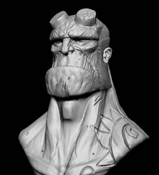 Miguel angel carriqui hellboy sculpt