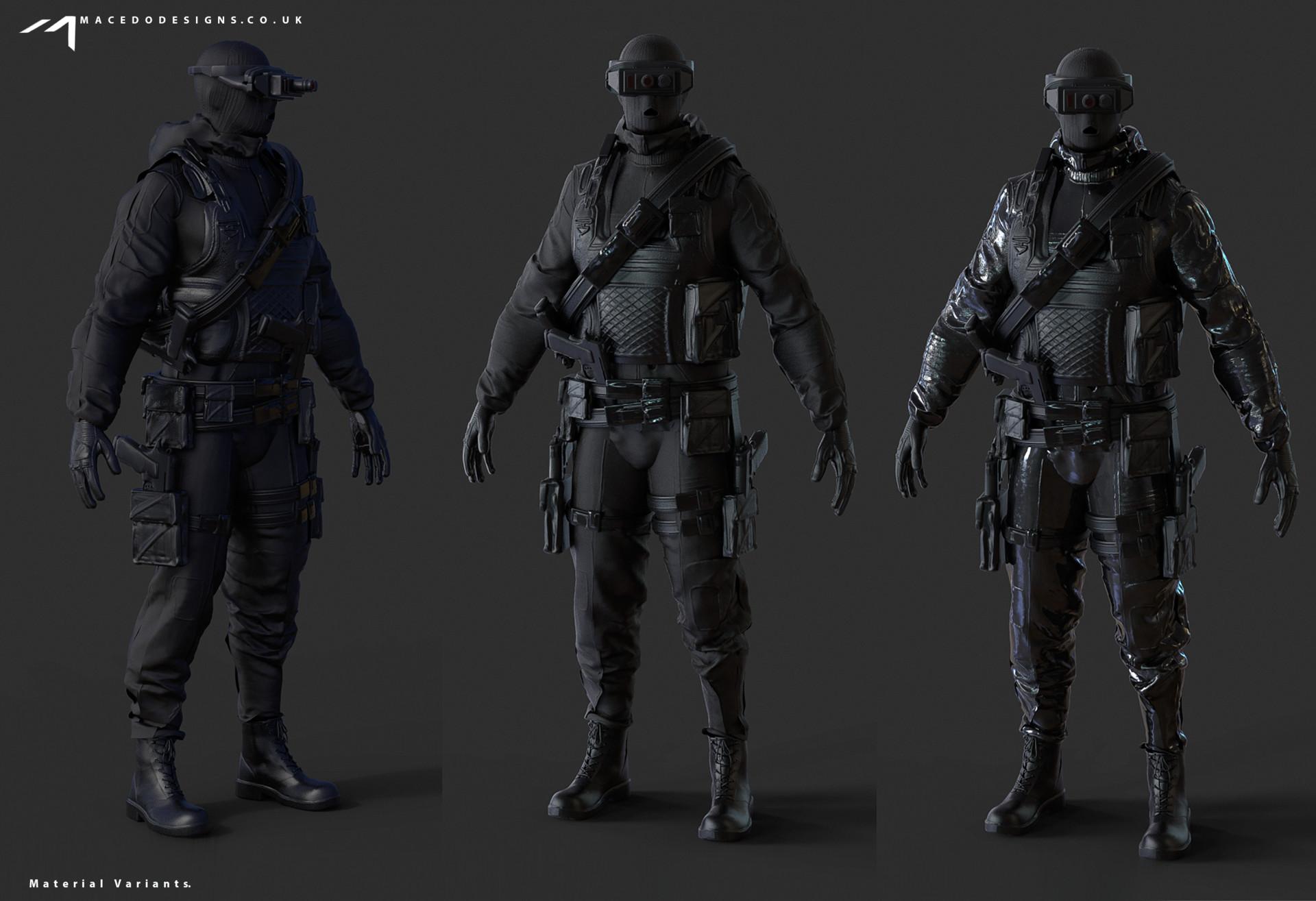 Thiago Macedo Macedo Designs Combat Hazmat Stealth Suit