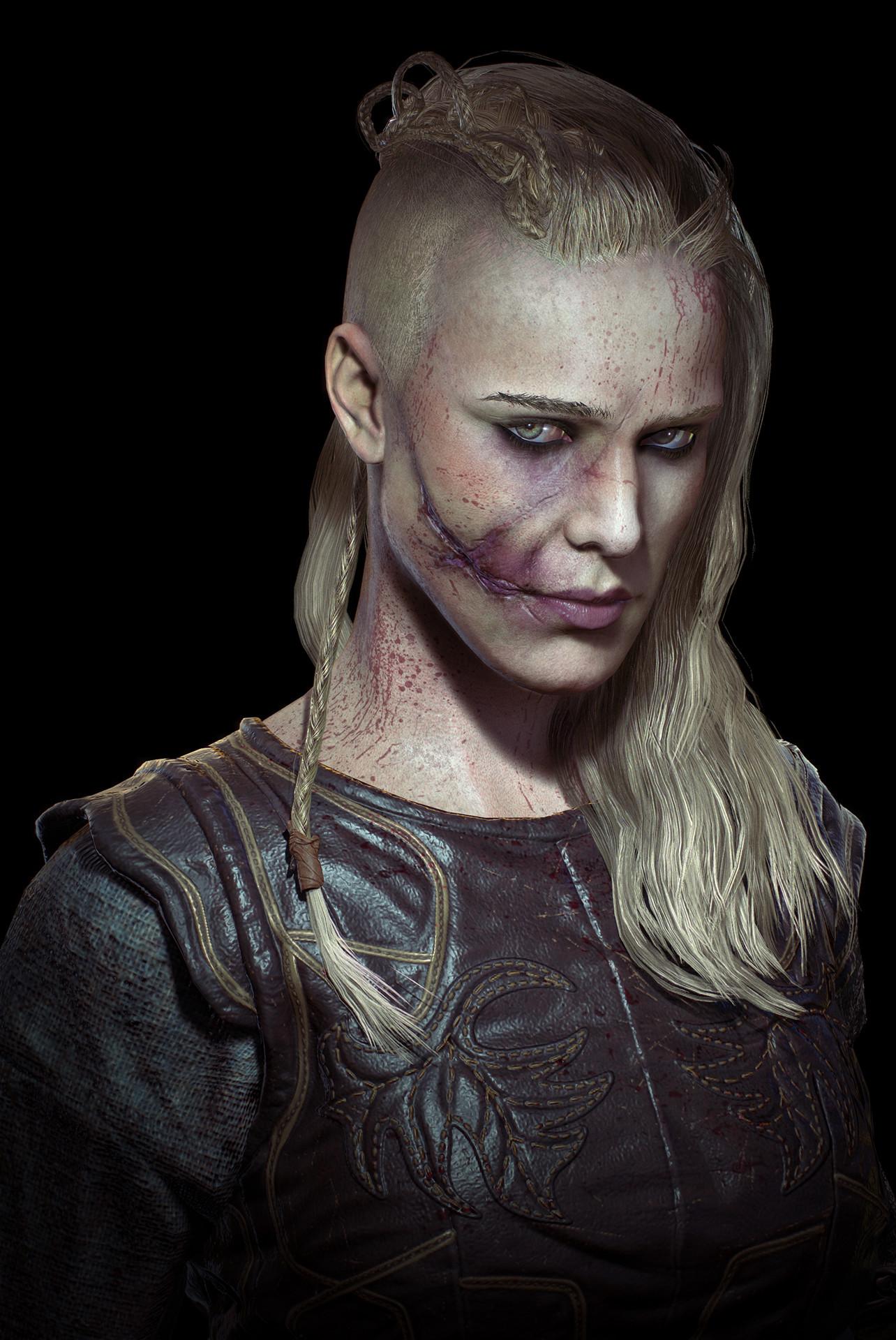 Porunn (Close Up) - Vikings Fan Art by Genci Buxheli