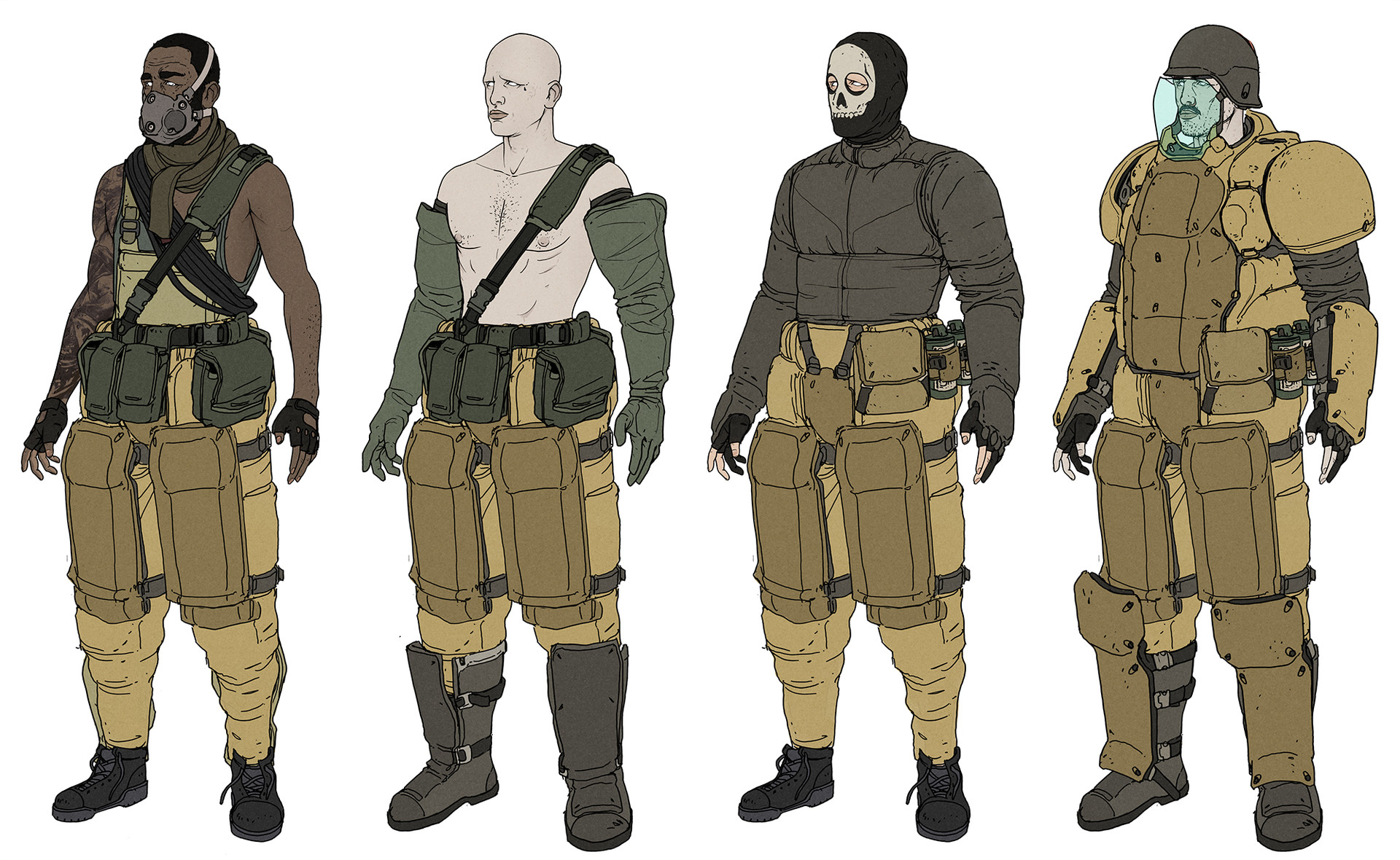 Character Designer Salary In Japan : Artstation military characters wouter gort