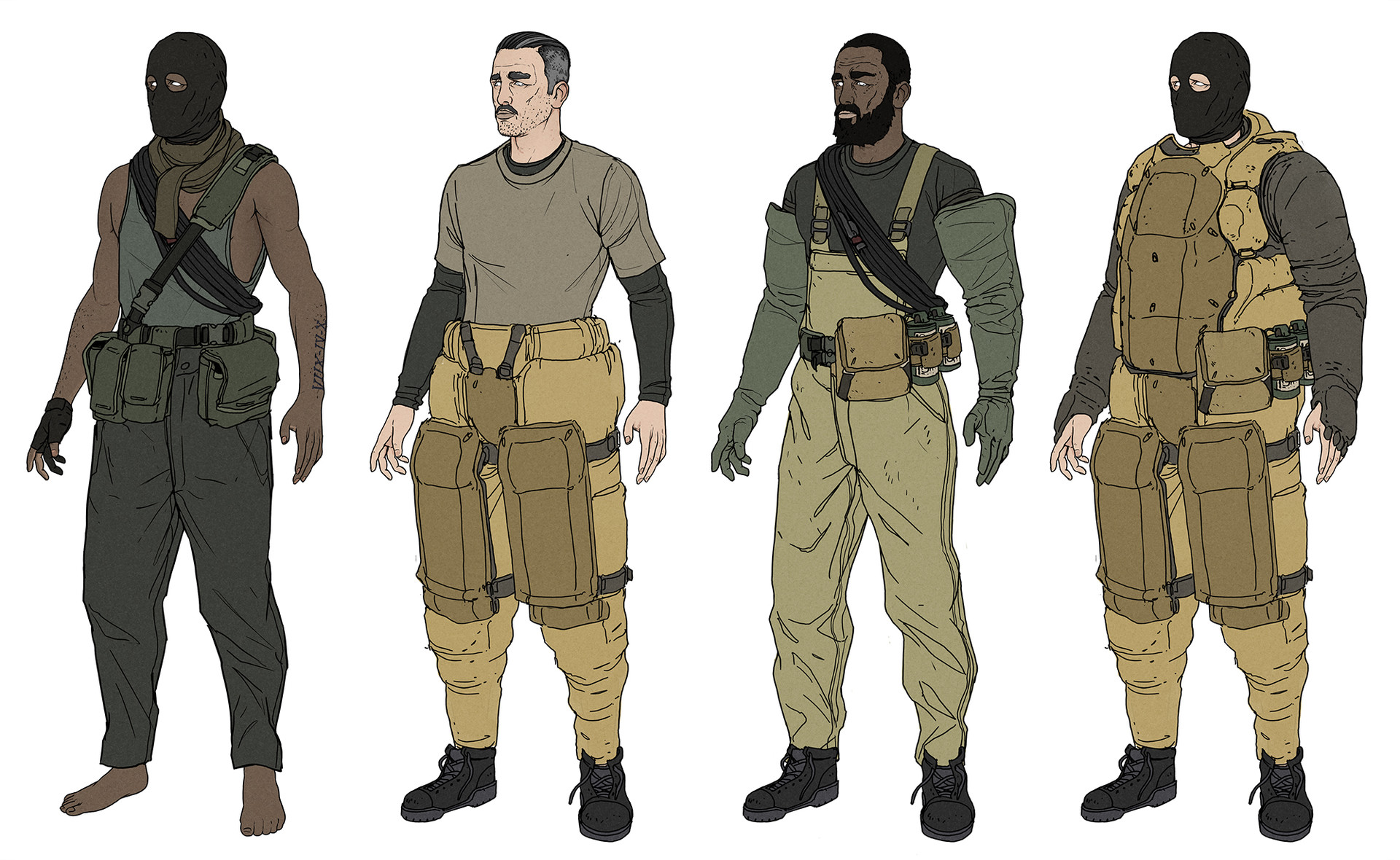 artstation military characters wouter gort