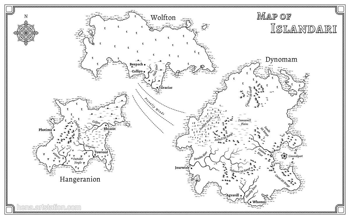 Map of Islandari