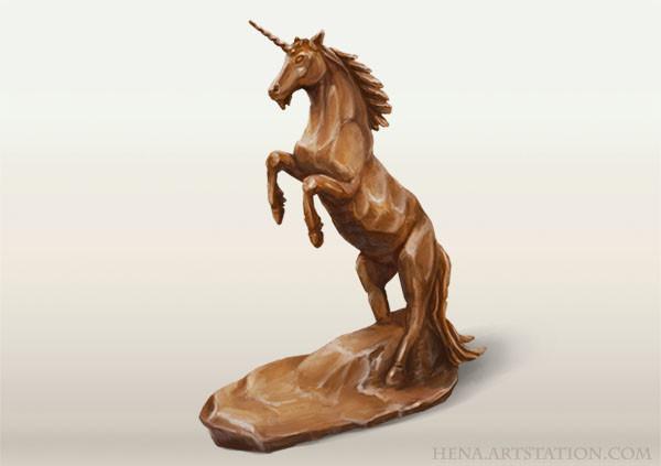 DSA: Unicorn Figurine