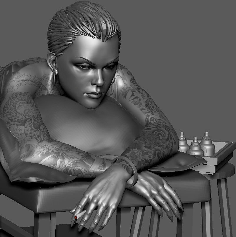 WIP - 3D digital Sculpt - inspired by a concept by  Kim Jong Gi..
