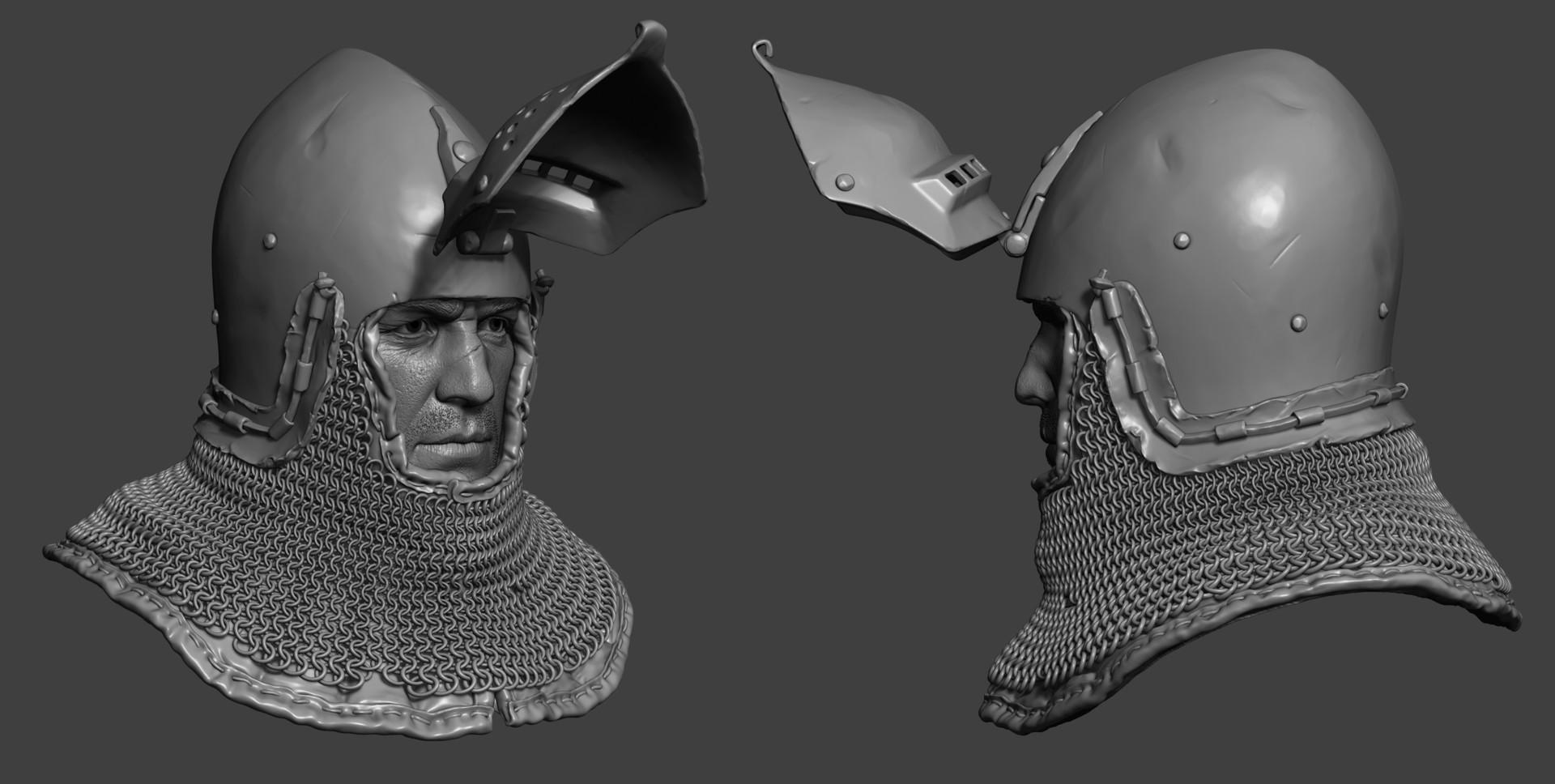 Petr sokolov artpity knight hp helmet