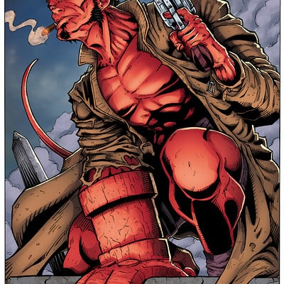 Matt james hellboy by mattjamescomicarts dacxv0t