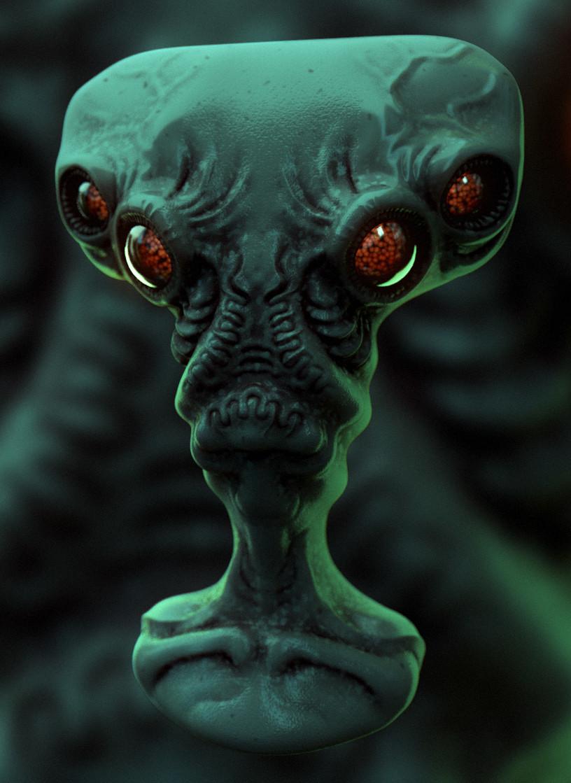 Mike robinson alien c4dsculpt02