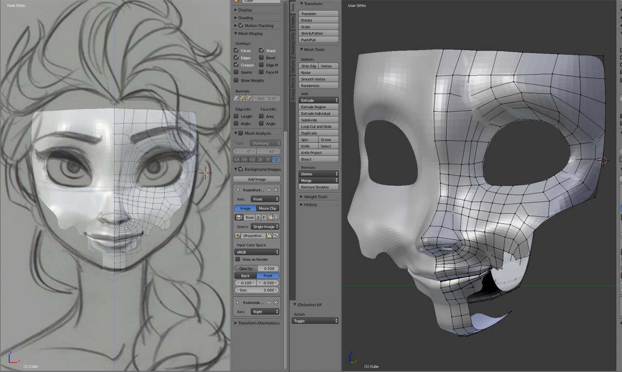 Referencing Elsa's face 2014