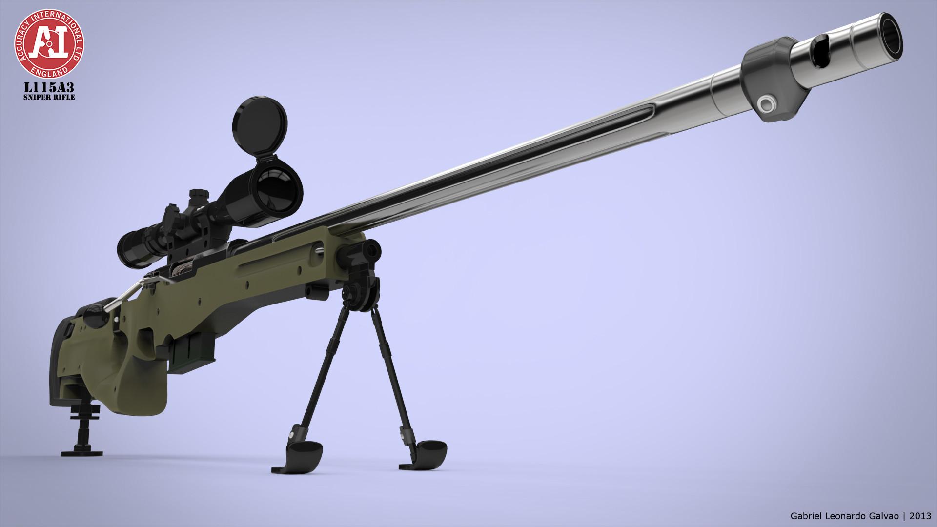 Artstation L115a3 Sniper Rifle 3d Model Gabriel Leonardo Galvao