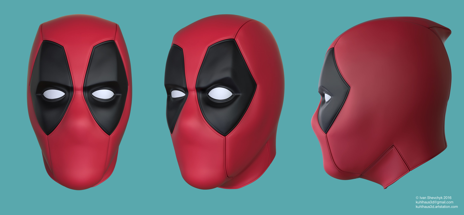 Ivan Shevchyk - Deadpool mask for 3d printing