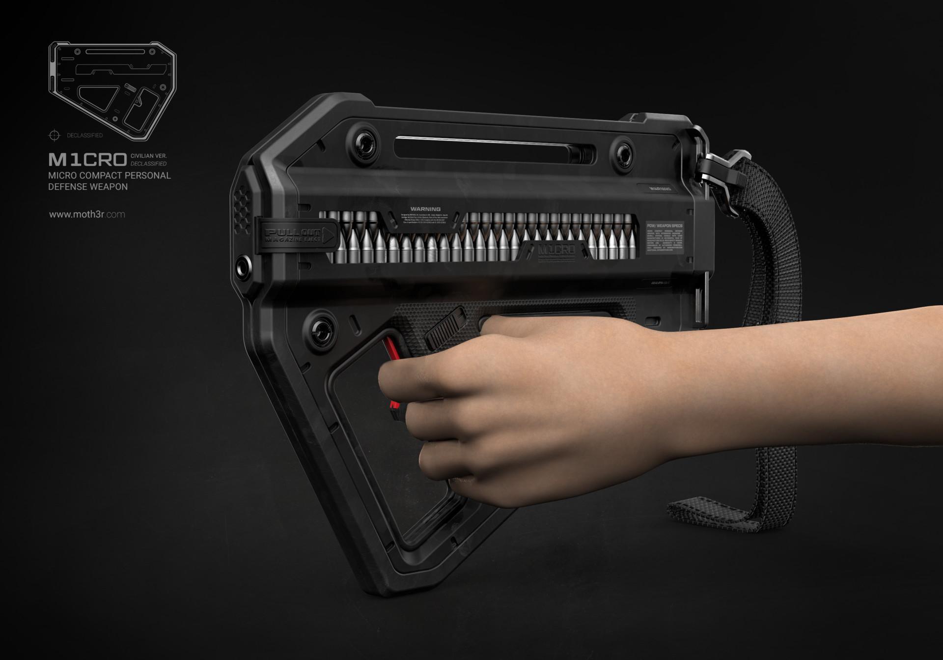 Ivan santic render single front perspective hand bullets