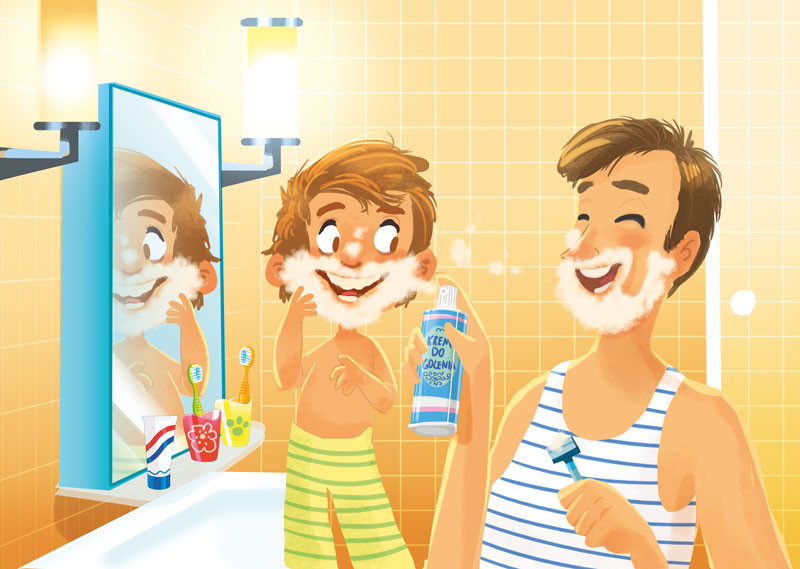 Aleksander jasinski shaving