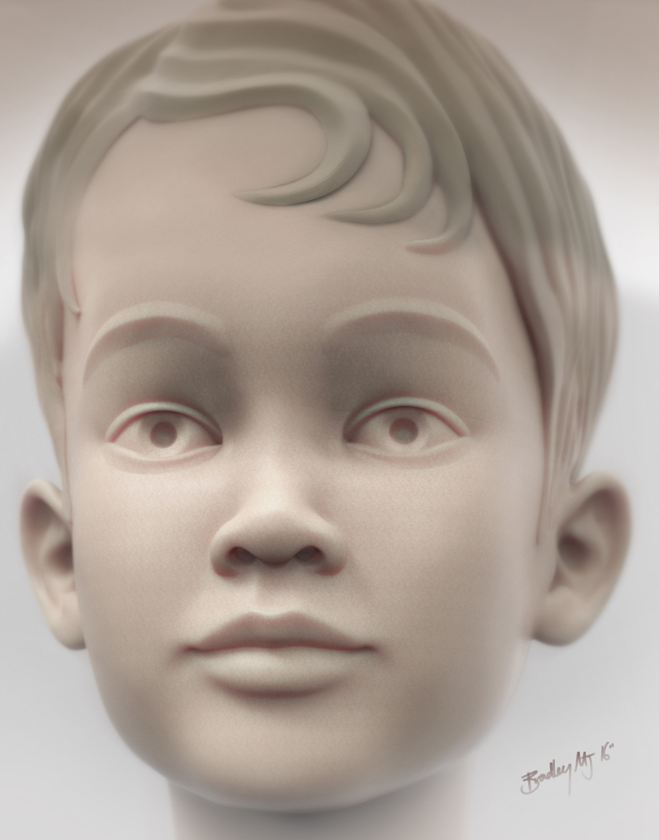 Final render of Z Brush 3D file