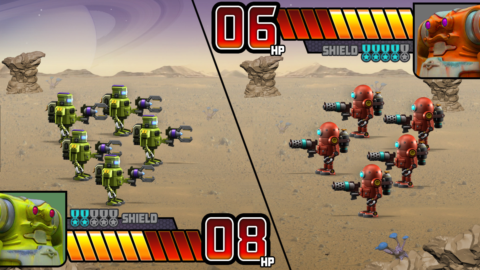 Mock up gameplay screen