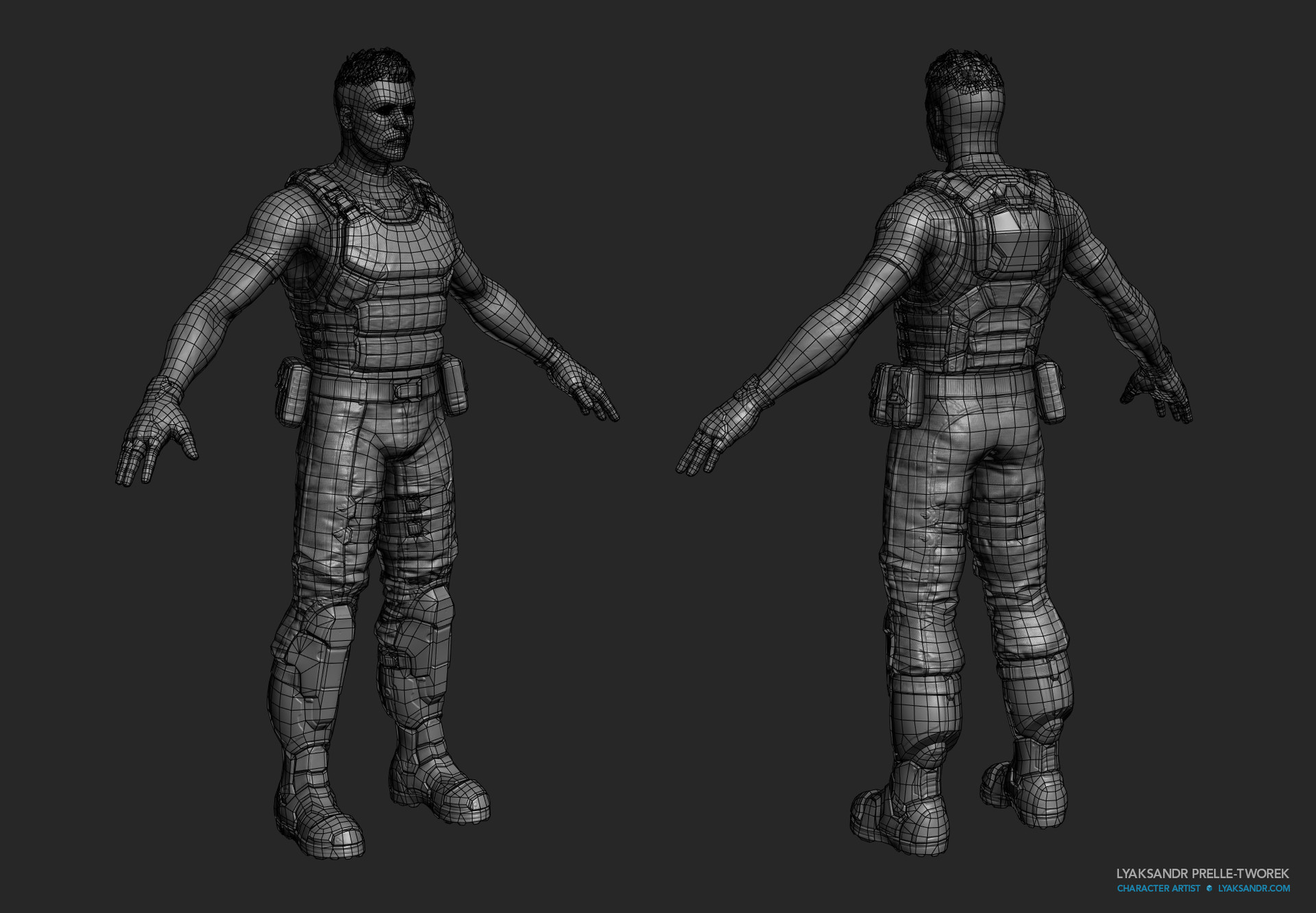 Lyaksandr prelle tworek aom starting armor wireframe