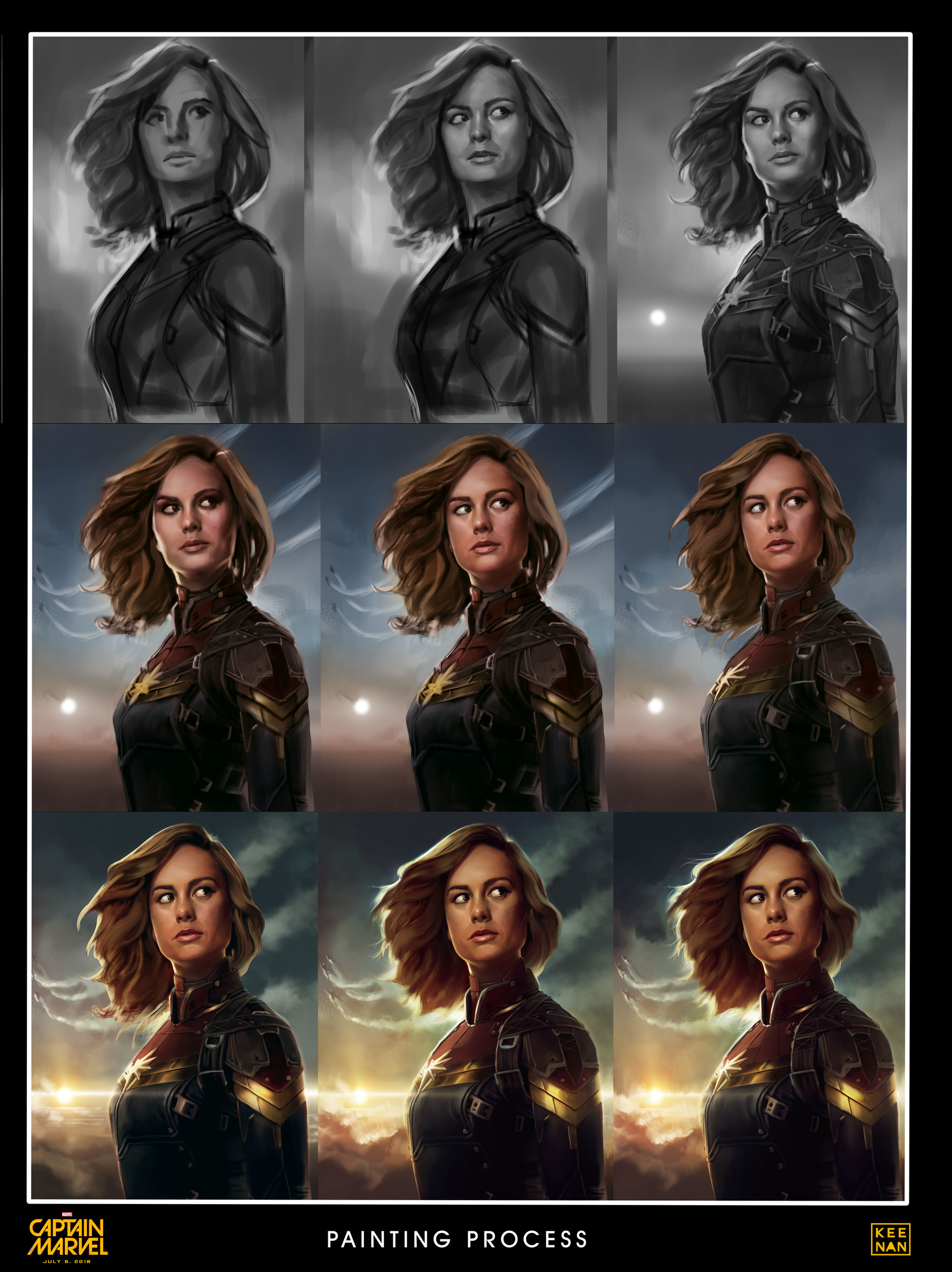 Dave keenan captain marvel painting process