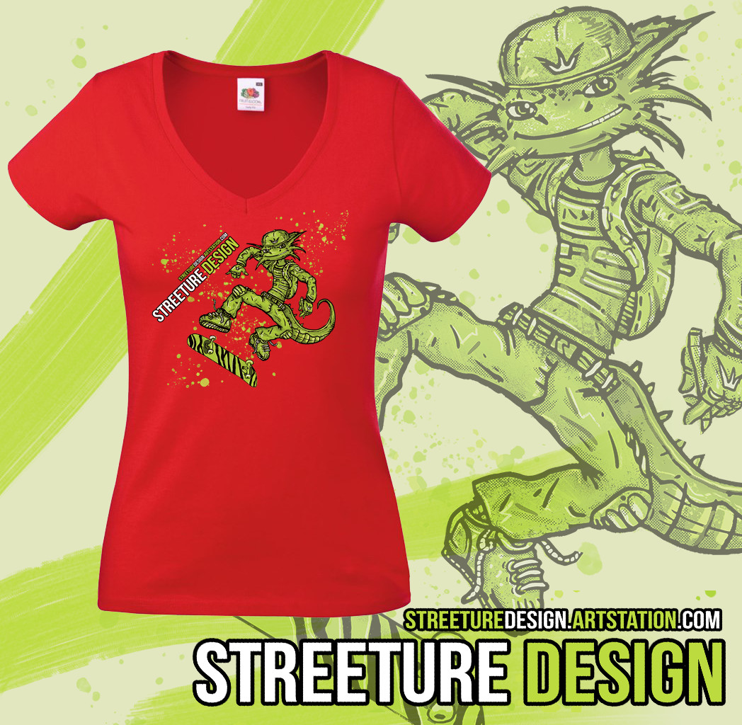 Streeture design red mockup all