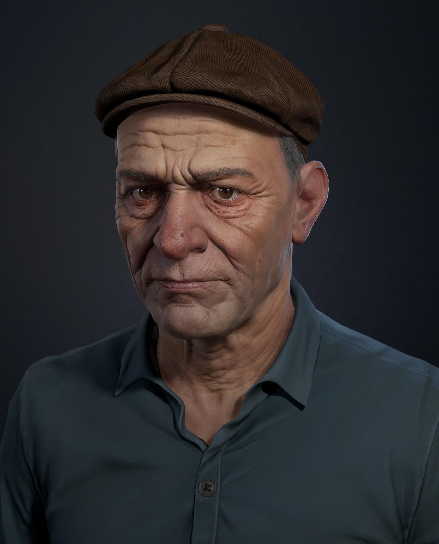 Pavel protasov peasant portrait