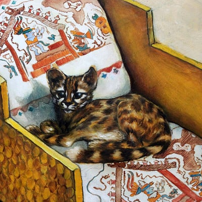 Christiane clados litter of a moche lord pampas cat