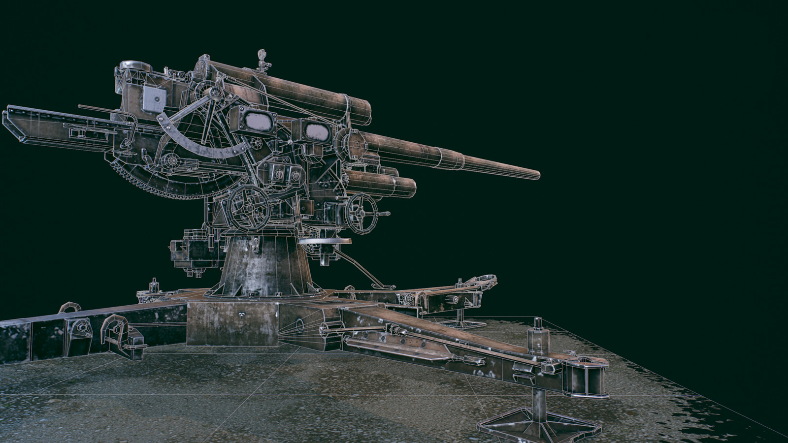 Cannon 88mm Flak 36 2048*2048 texture  26k triangles