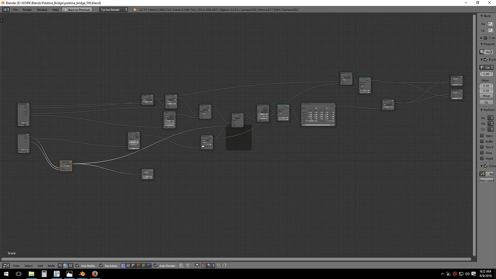 Post-Production node set-up (Blender)