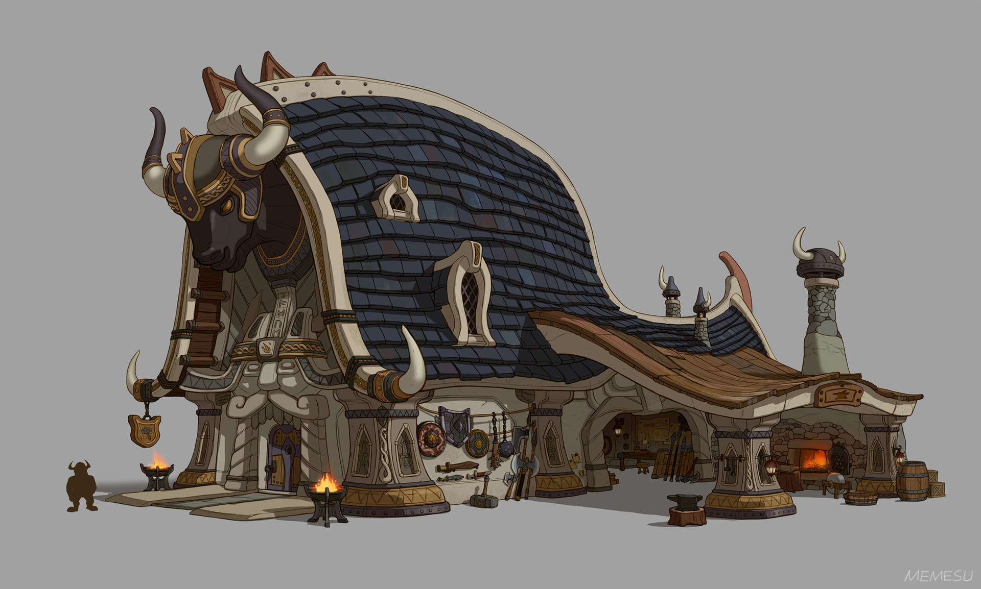 Viking Blacksmith Building Design