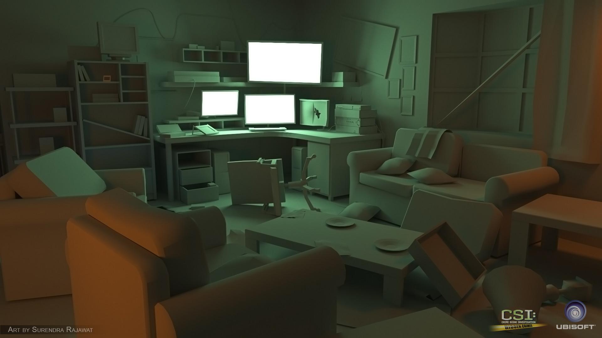 Surendra pratap singh rajawat living room 3d