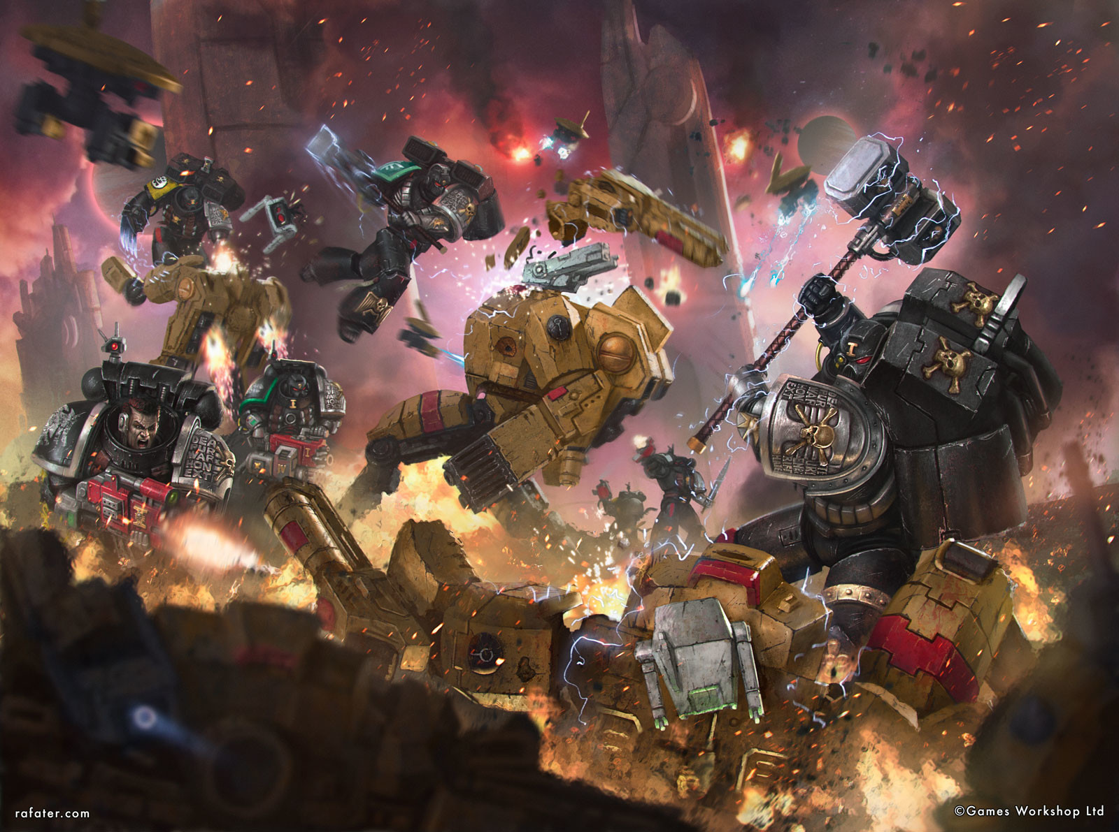 Deathwatch vs Tau battlesuits