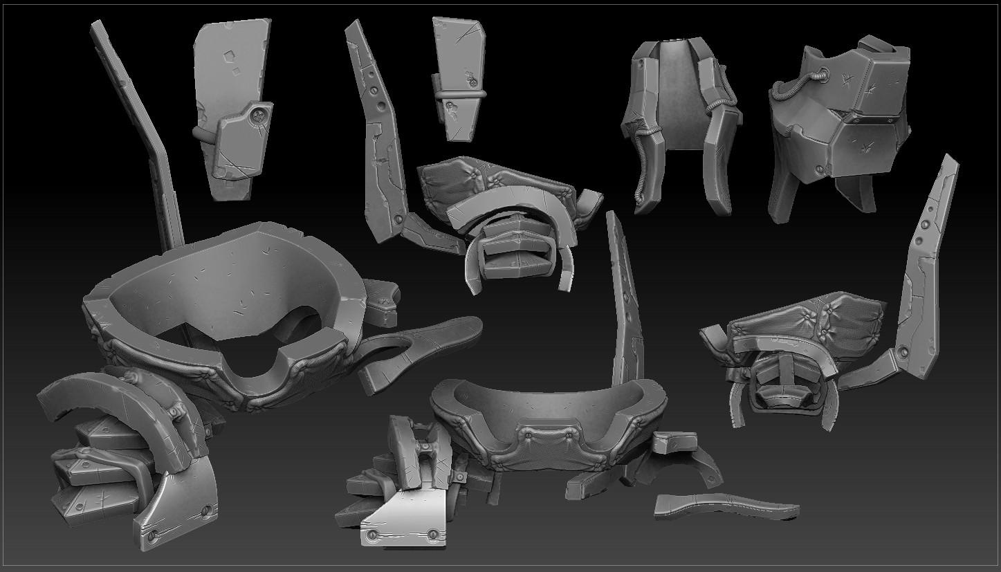 additional armour varients sculpt