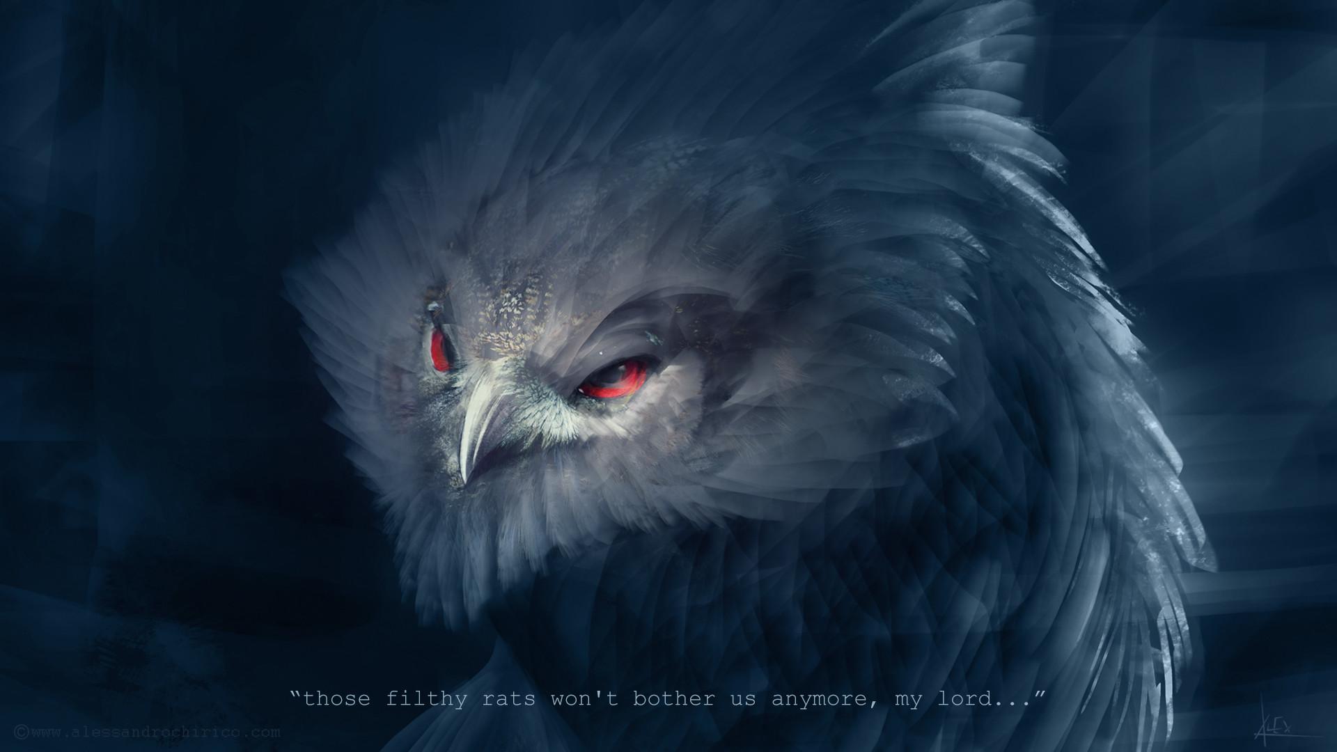 Alessandro chirico owl beast head shot alessandro chirico
