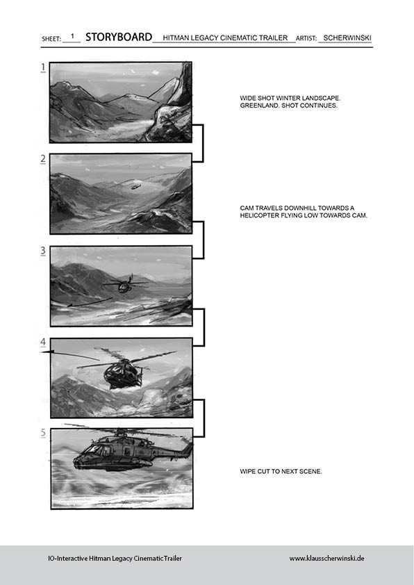Klaus scherwinski hitman storyboards legacy trailer2