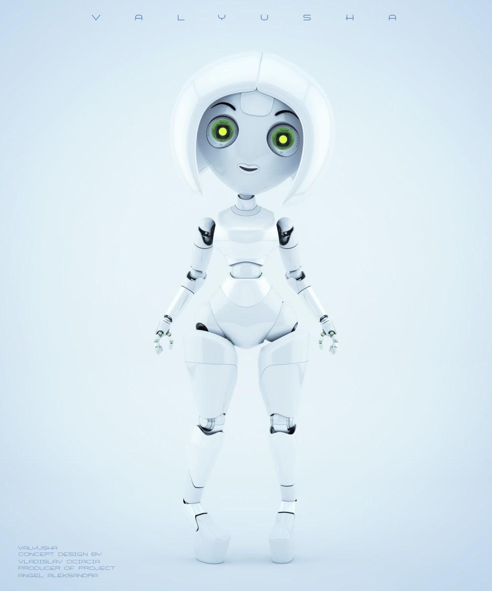 Vladislav ociacia trendy robotic girl valyusha 3