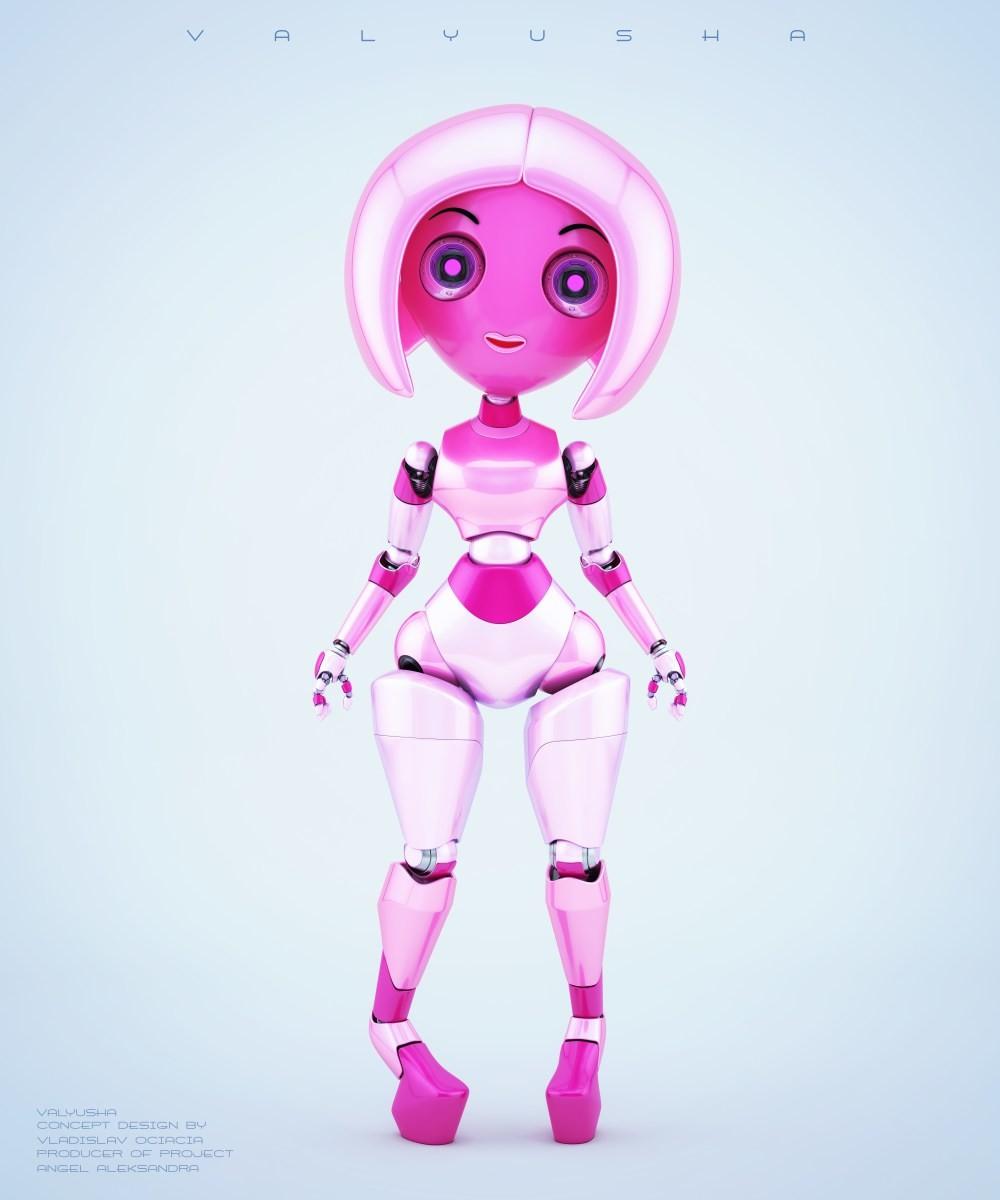 Vladislav ociacia trendy robotic girl valyusha 4