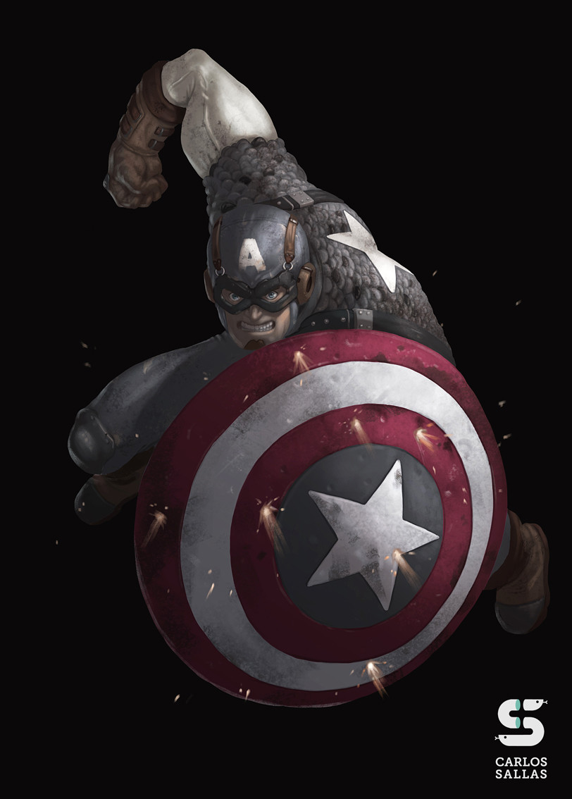 Captain America Marvel Flair '94 card (remake)