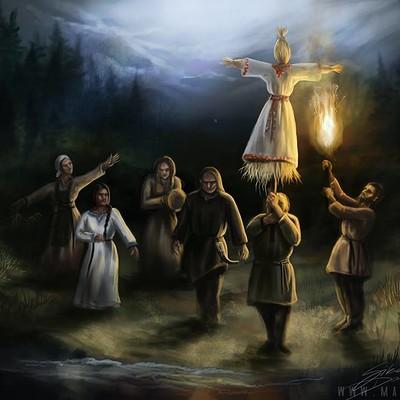 Dominika sikora topienie marzanny ritual slavic