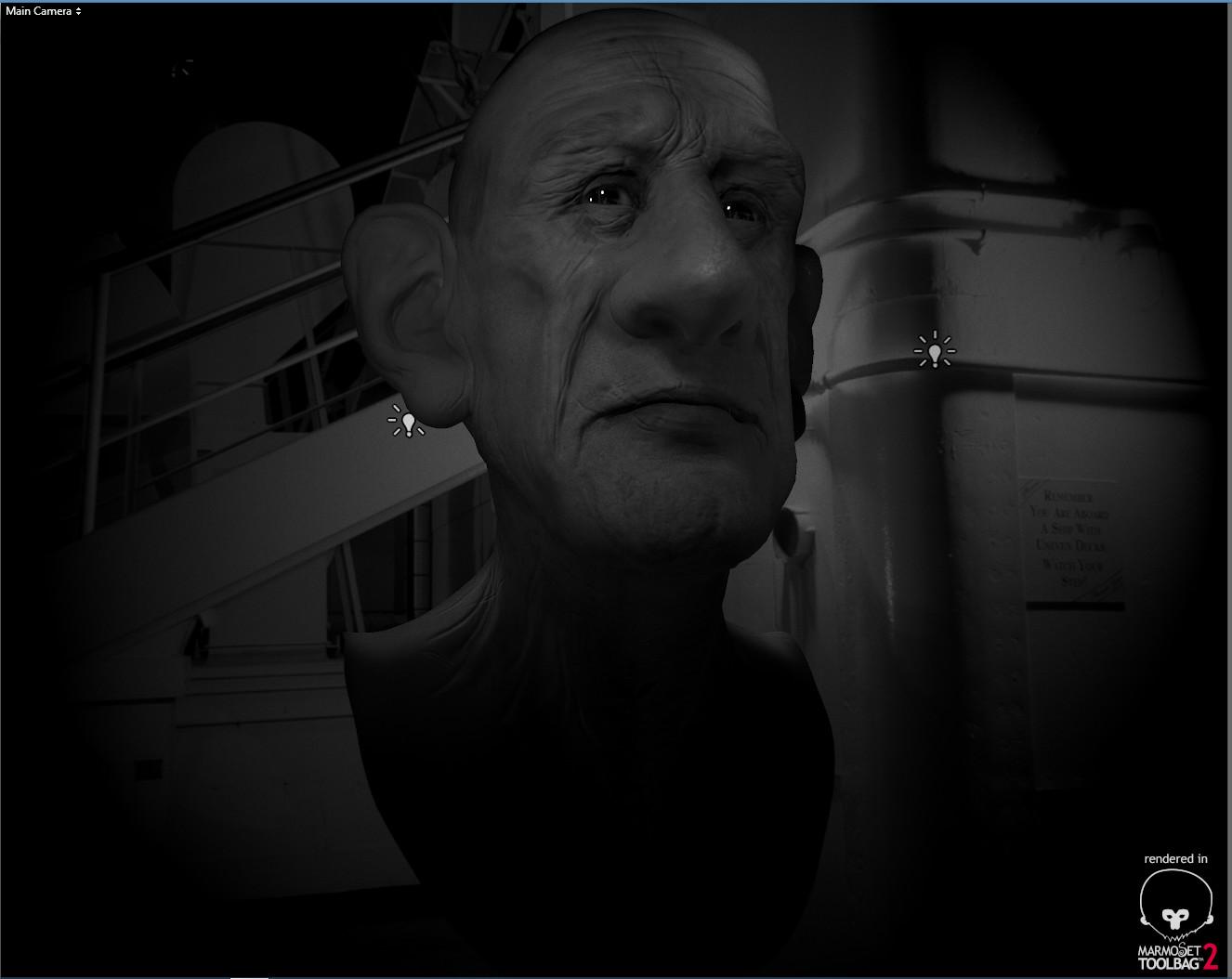 WIP sculpt john steinbeck