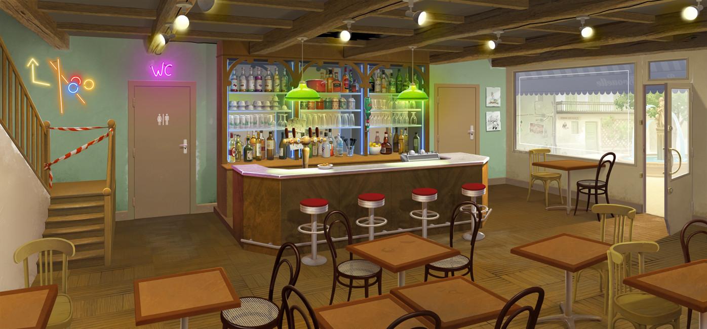 Le bar - décor / The bar - background