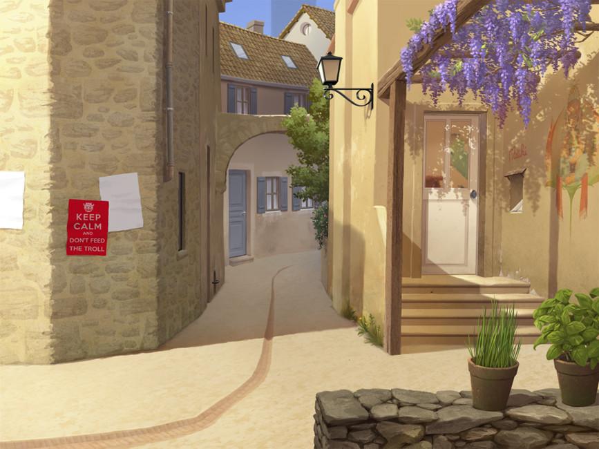 Rue - décor / Street - background