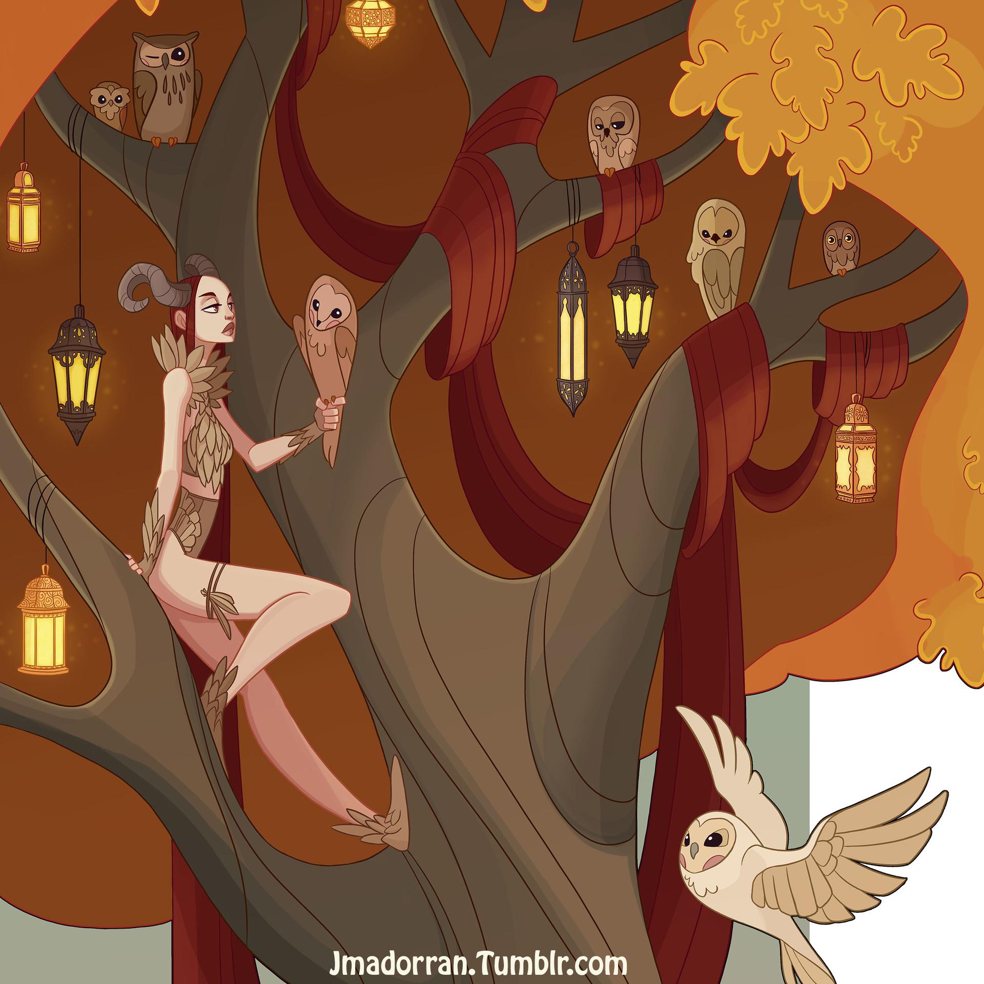 Jessica madorran character design fall tree 2016 blog closup 01