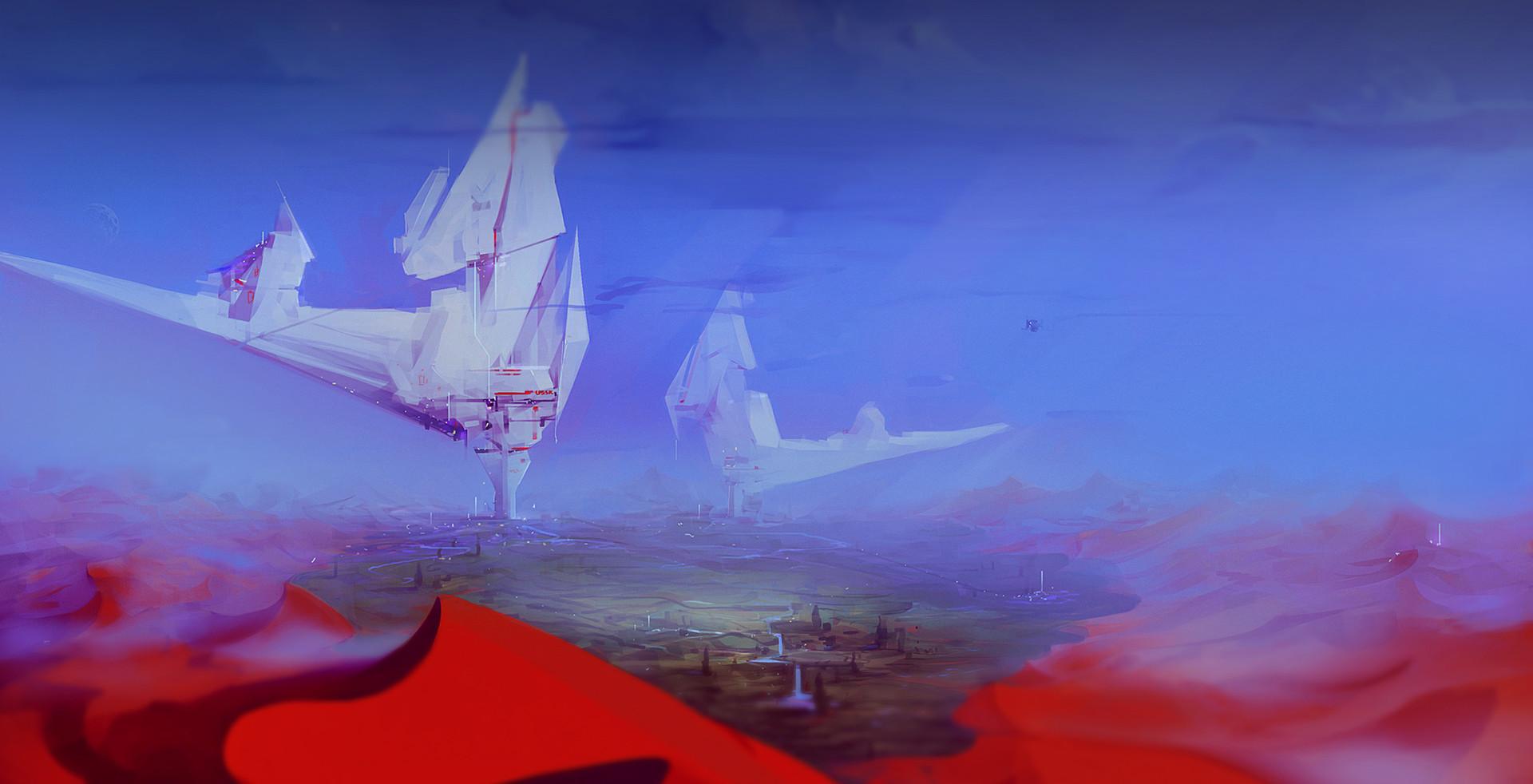 Yuriy romanyk environment desert scifi
