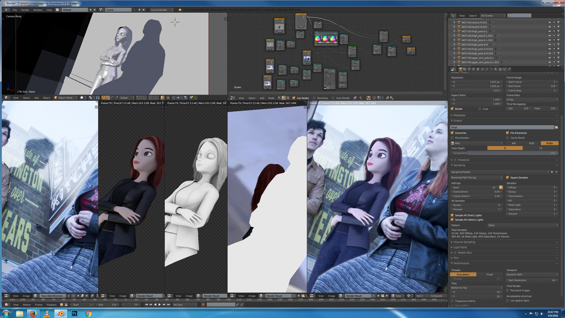 Compositing WIP screenshot.