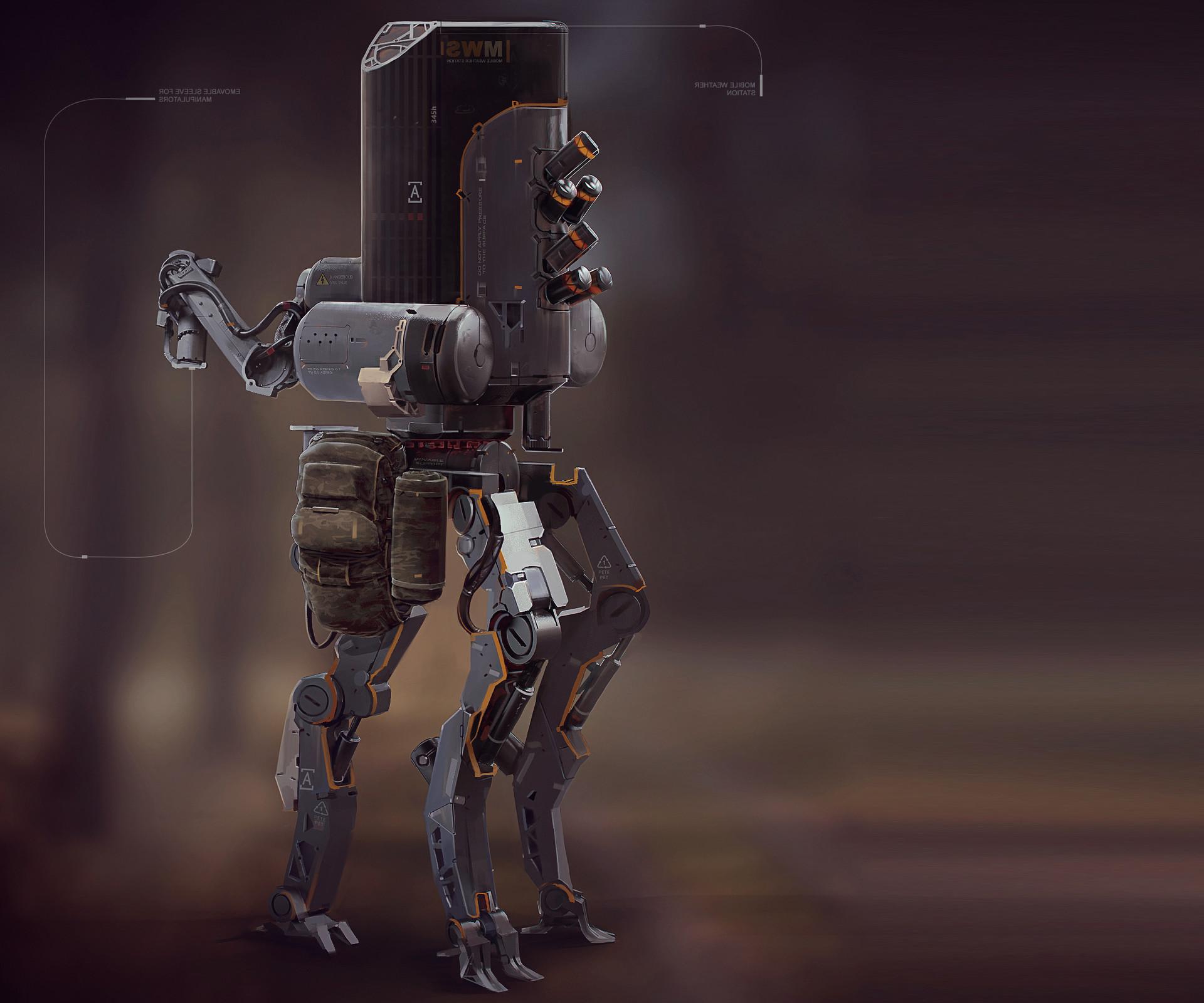 Yuriy romanyk tripod 3drobot characterdisigne concept