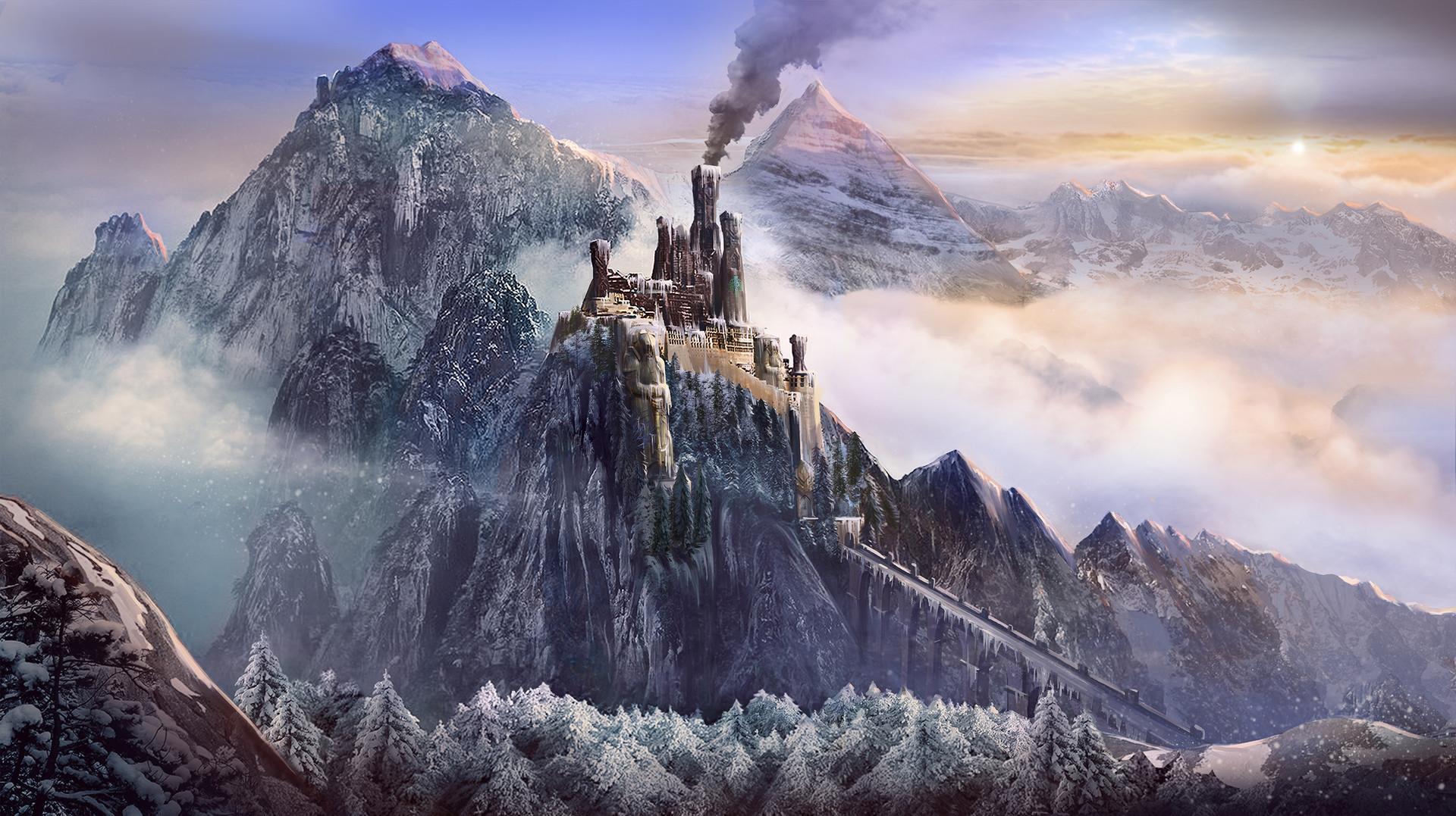 ArtStation - Dwarf castle, Chenyang Huang
