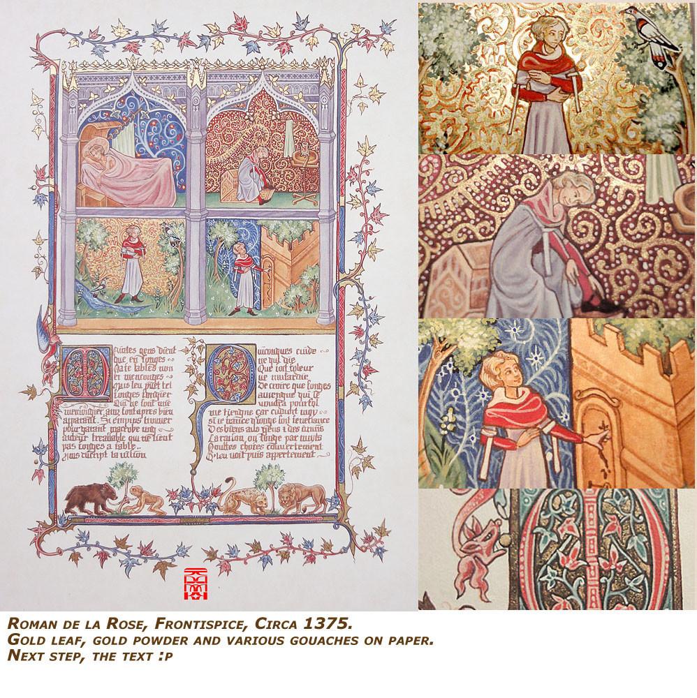 Roman de la Rose - first page - 1375