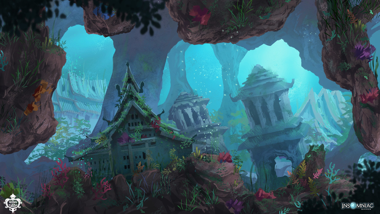 Song of the Deep : level design concept art