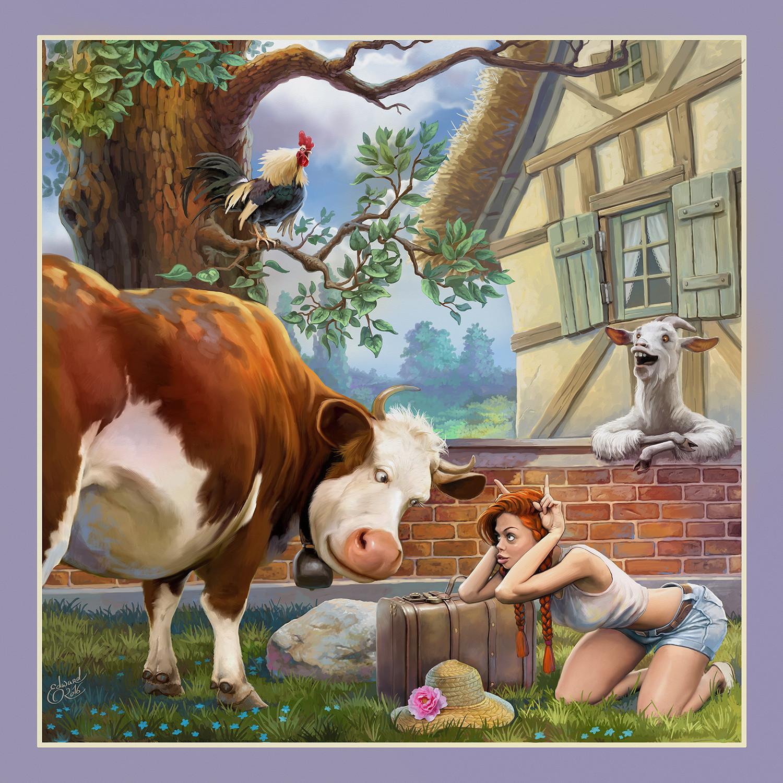 Ellie in the village