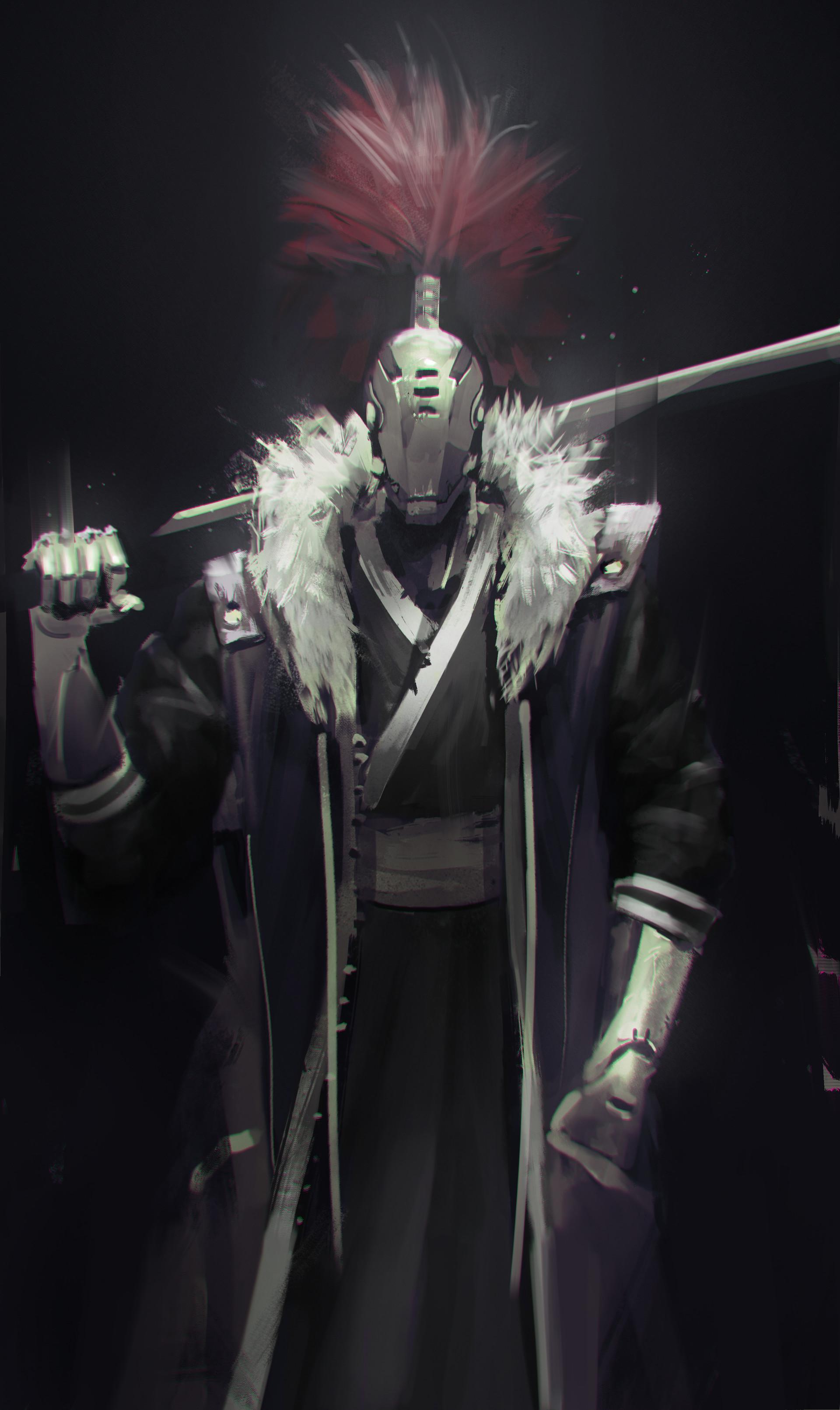 Jeff chen robot samurai face