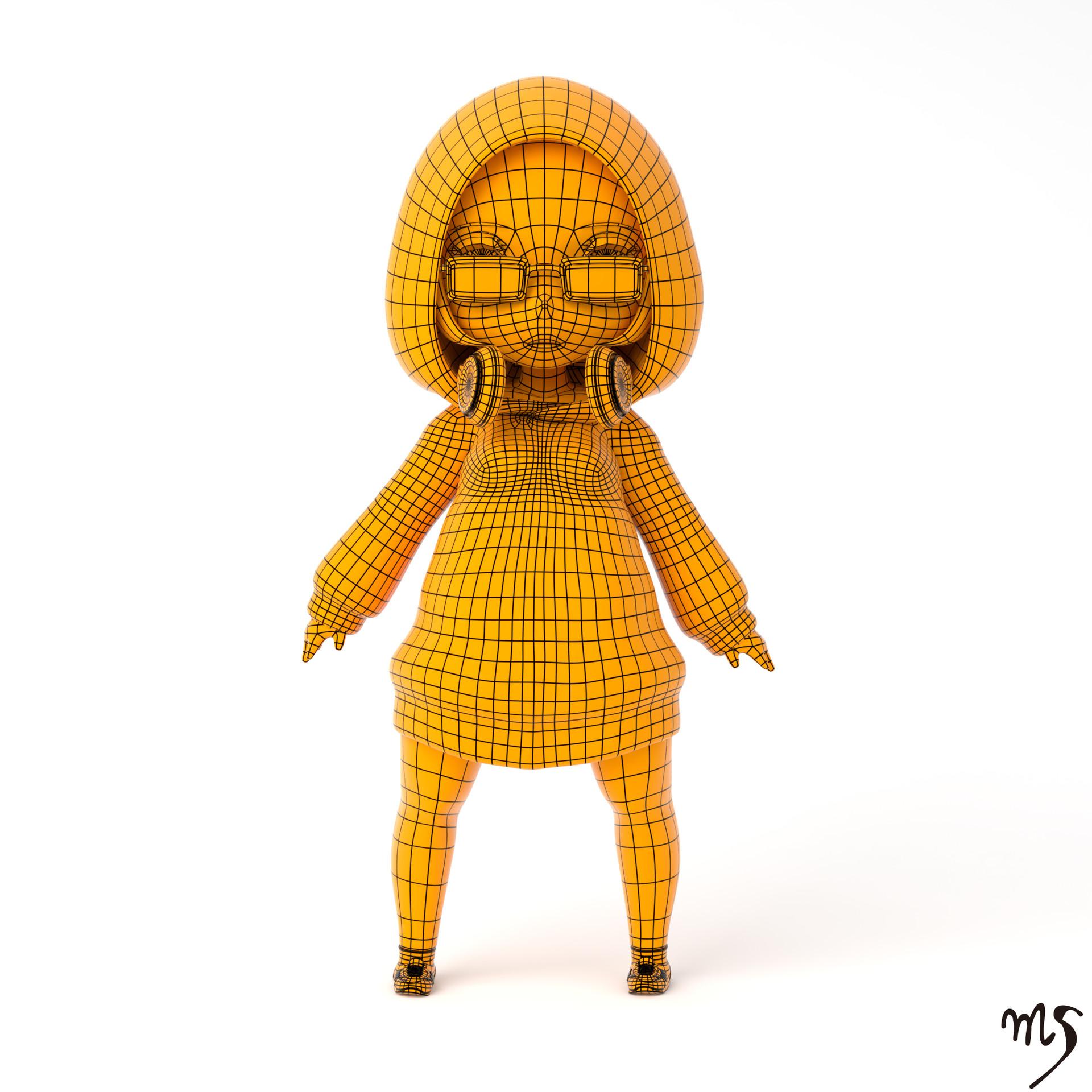Masatomo suzuki hoodedgirl wireframe
