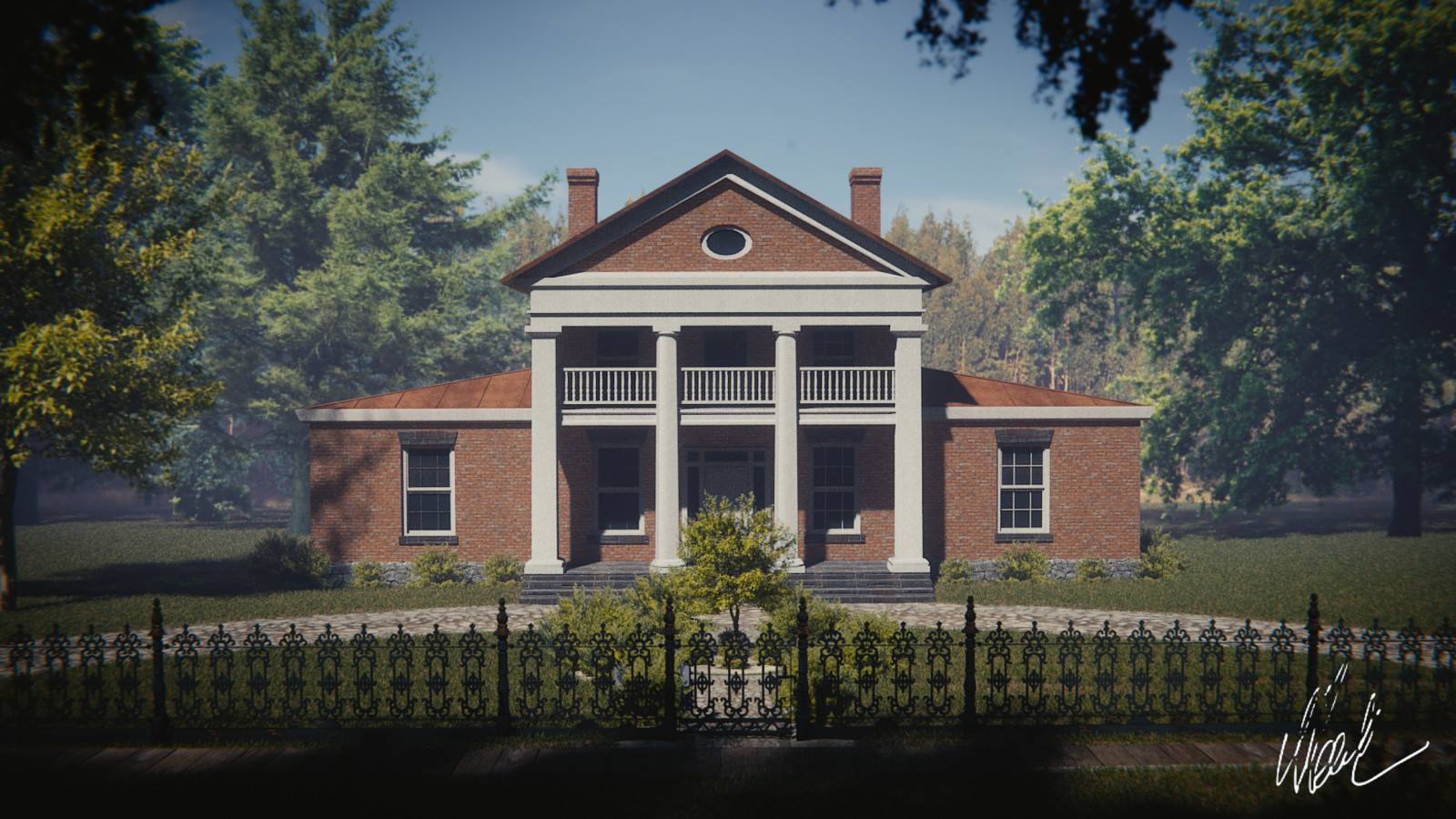 The Chrysler Hall (Modified) of Upper Canada Pioneer Village, scroll don for the reference image
