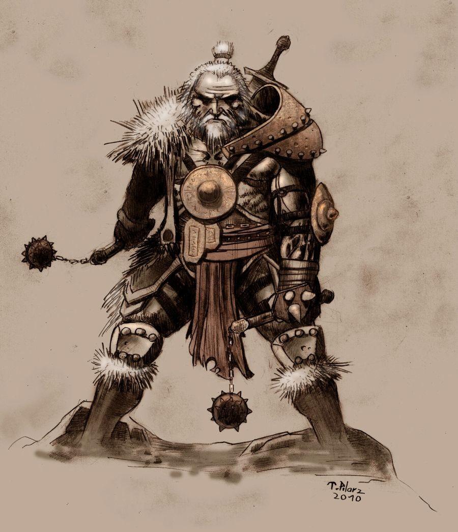 Tomek pilarz barbarian diablo 3 by tepesart